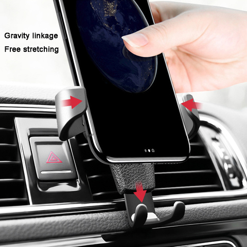 Universal Car Phone Holder stand For Most mobile phone Car Air outlet Mount Holder ABS Gravity Mobile Phone Holder No Magnetic Lahore