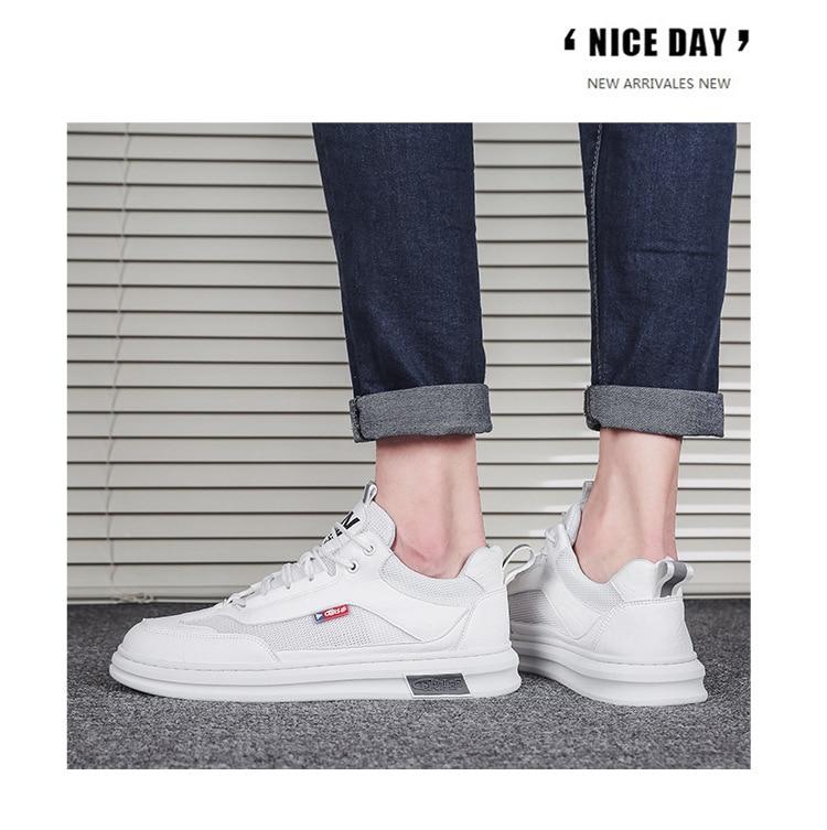 moda masculina all-match tendência sapatos casuais mocassins