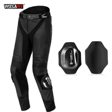WOSAWE GHOST RACING Motorcycle Pants with Knee protector Windproof Protective Gear Motocross Pants Trousers motorcycle jeans