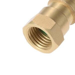 """Image 5 - Yetaha Auto Klimaanlage R12 R22 R502 Schraube zu R134A Conversion Adapter Ventil 1/4 """"SAE zu 8v1 Gewinde"""