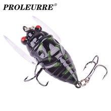 1 pçs pesca biônico inseto popper iscas de pesca 5cm 6g simulação asa cicada topwater wobbler artificial duro isca crankbaits