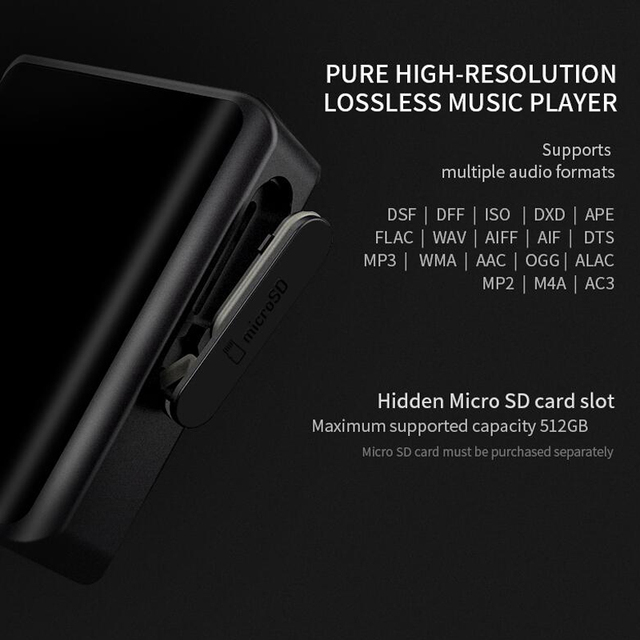 Shanling M0 Hi-Res Portable Music player Bluetooth Touch Screen 3