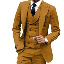 Suit Excellent Jacket Pants Prom-Blazer Wedding-Tuxedos Groom Custom-Design 3piece Business