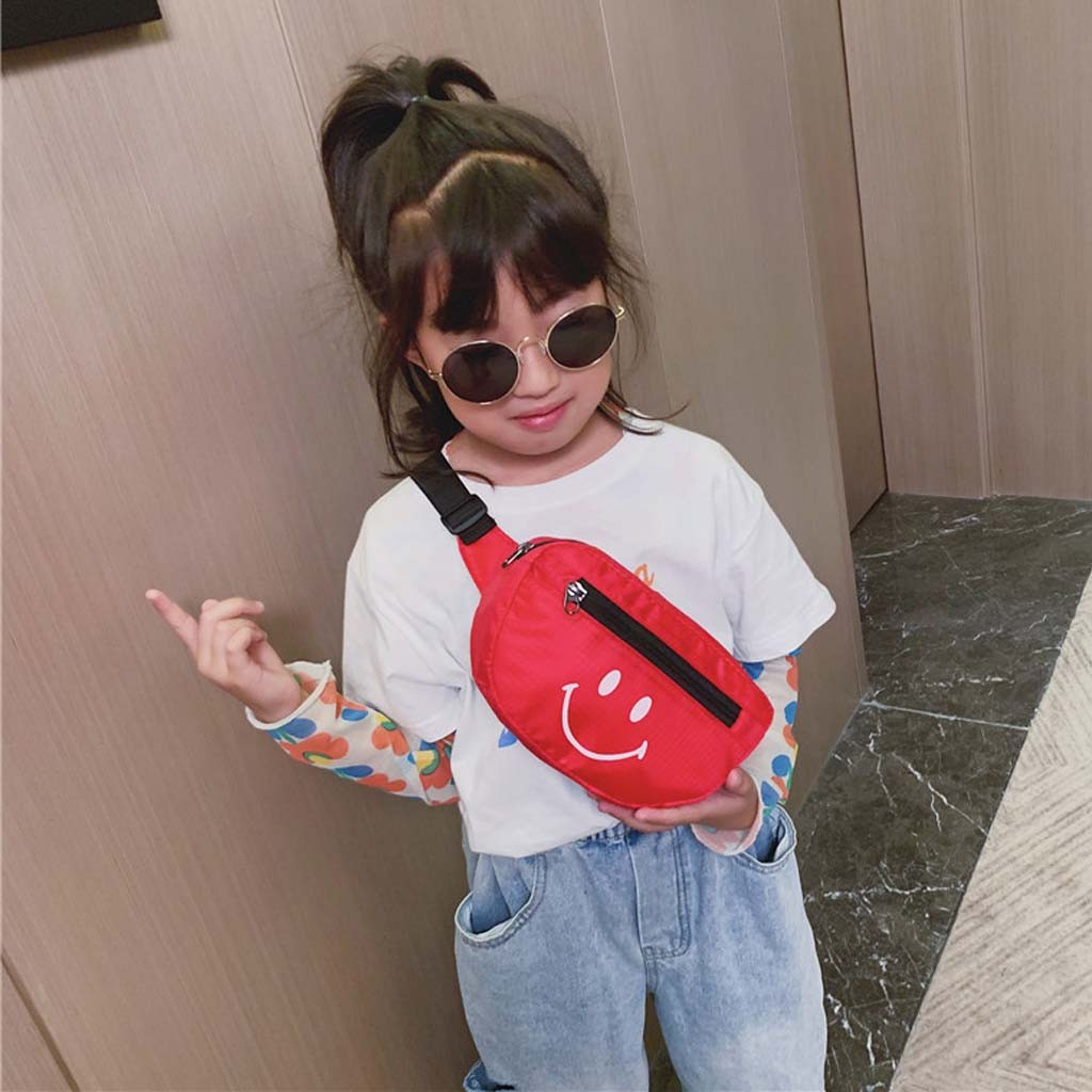 Nylon Waist Bag New Arrival Children Chest Handbag Unisex Letter Fanny Pack Kids Waist Pack Belly Bags Toy Pouch#30G