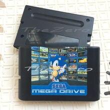 Cartucho de jogo múltiplo 830 em 1, cartucho de jogos para 16 bits sega mega drive série sonic ristar contar, vermelho e verde
