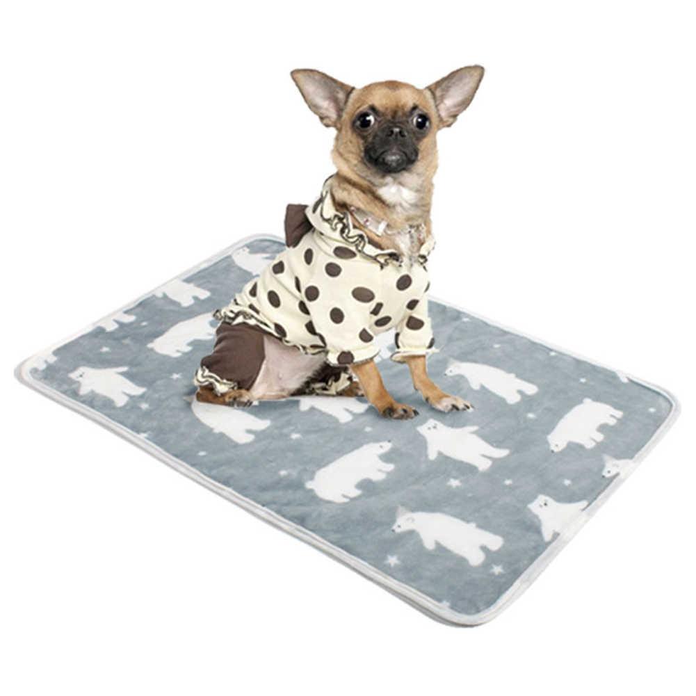 קריקטורה בעלי החיים ההדפס חם פליז חתולי כלבי מיטת מחצלת שמיכת מגבת אספקת כלב