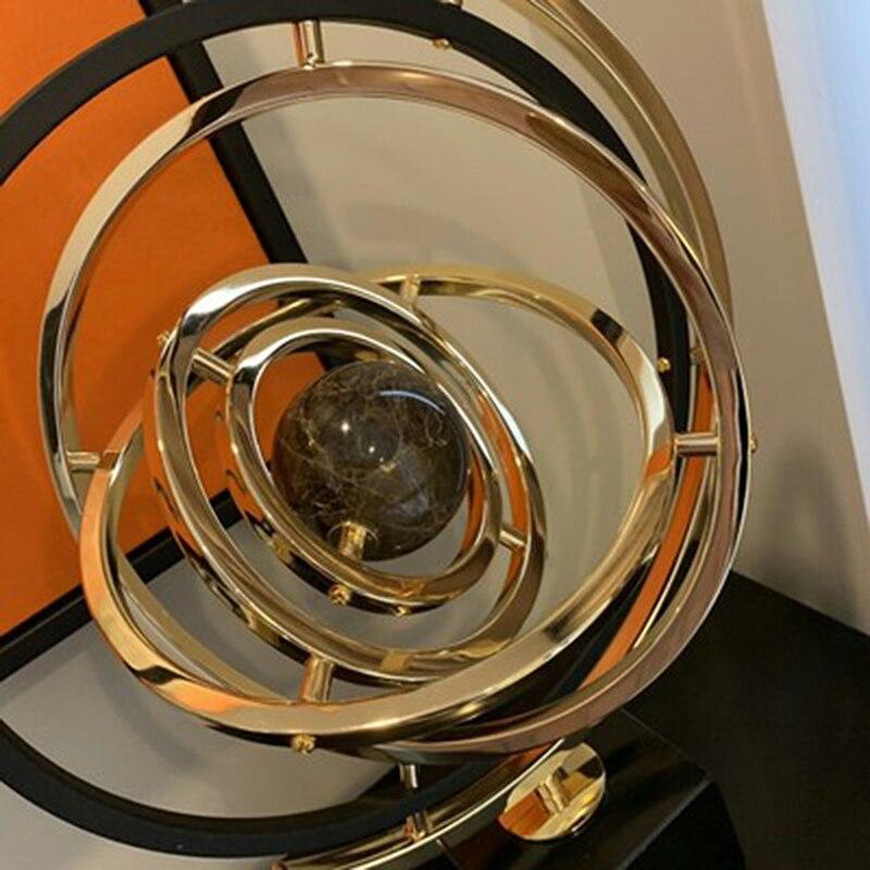 3D sistema Solar de mármol Material globos de luz de lujo intercambiable globo miniatura modelo de oficina en casa adorno Mejores Regalos para amigos - 4