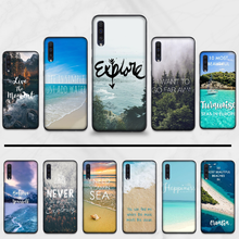 Reisen berg meer strand zitate Coque Shell Telefon Fall Für Samsung Galaxy A 3 6 7 8 10 20 30 40 50 70 71 10S 20S 30S 50S PLUS(China)