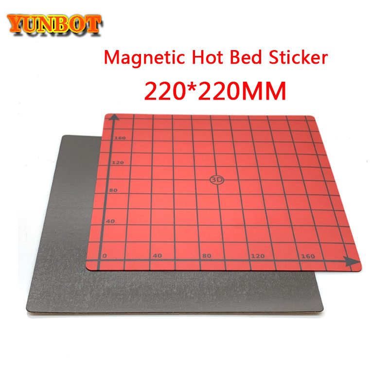 Magnetic Coordinate <font><b>Heated</b></font> Print <font><b>Bed</b></font> square <font><b>220</b></font>*<font><b>220</b></font> Print Sticker Build Plate Flex Plate for i3 Mega 3D Printer image