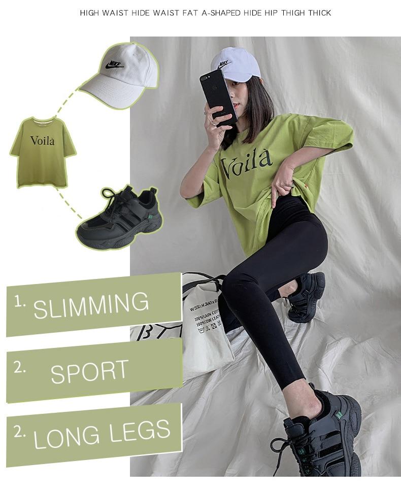 H69649f5bd94645ad9b6a4ec597c6f77fY BIVIGAOS New 3-Color Sharkskin Leggings Women Spring Summer Thin Skinny Legs Fitness Leggings Pressure Elastic Sport Leggings