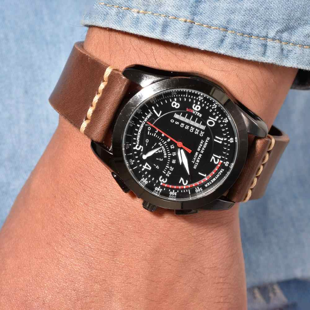 BEAFIRY QUICK RELEASE ผักกระป๋องนาฬิกา 20 มม.22 มม.24 มม.หนัง Retro WatchbandBelt สีน้ำตาลสำหรับ Fossil