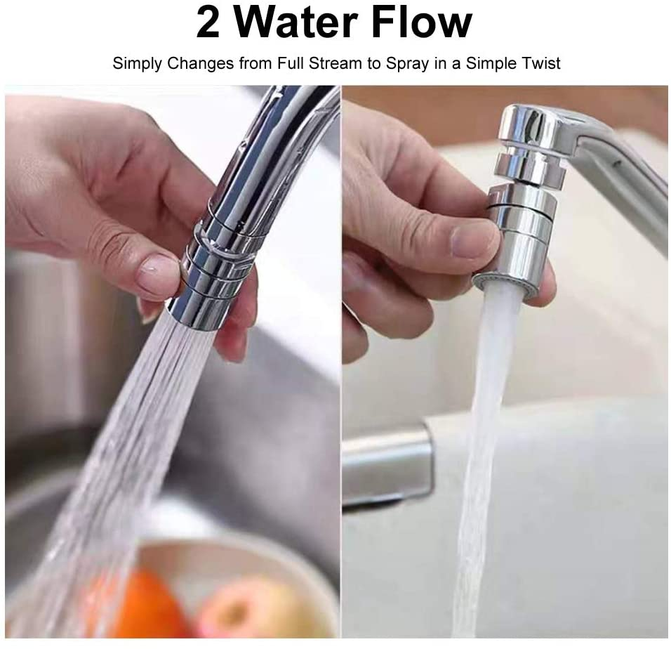 Faucet Sprayer 360° Rotatable Kitchen Faucet Sprayer Moveable Kitchen Tap Head Sink Sprayer Attachment Sink Nozzle for Kitchen 2