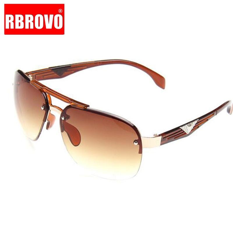 RBROVO 2018 Vintage Classic Sunglasses Man Driving  Big Frame Sun Glasses Women Brand Designer UV400 Driving Oculos De Sol