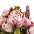 Pfingstrose Blumen Blatt Künstliche Hochzeit Bouquet Silk Hochzeit Dekoration Haus Farbe Dark Rosa