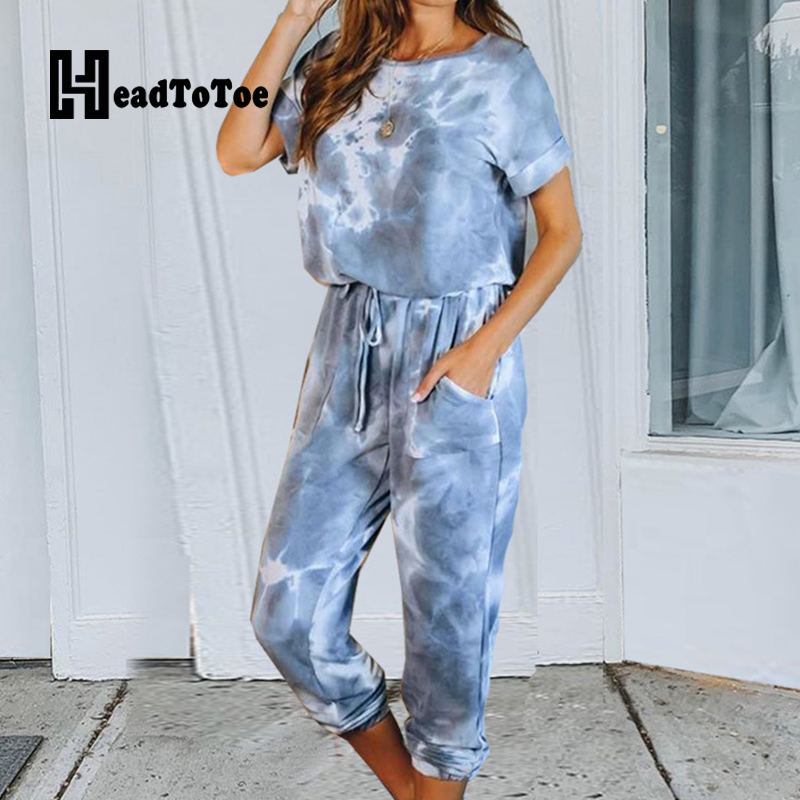 Tie Dyed Women Casual Summer 2 Piece Set