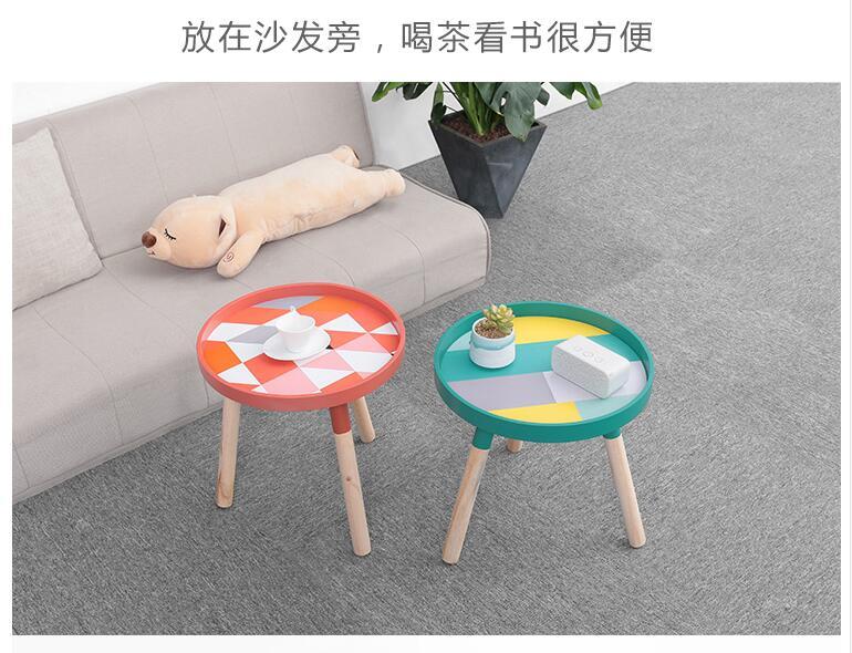 Луи Мода журнальные столы маленькие, круглые, мини прикроватные, простые спальни, прикроватные, твердой древесины угловой