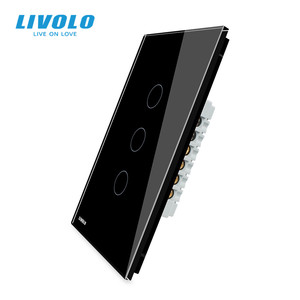 Image 5 - LIVOLO Manufacturer Wall Switch,interruptor 110v ,1way control Ivory Glass Panel, US Touch Light Switch,with backlight