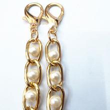Sangle de sac à bandoulière en métal, imitation perle, chaîne de remplacement, 120cm, poignée douce pour sac à main