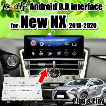 PX6 CarPlay/Android Video Interface Box for New Lexus NX200 NX300 2018-20 with GPS Navigation, YouTube, Netflix by Lsailt image