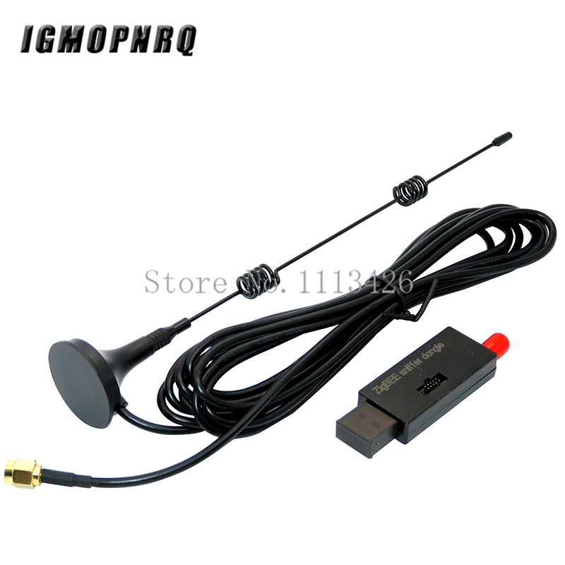 Sem fio zigbee cc2531 2540 sniffer bare board packet protocol analyzer interface usb dongle captura pacote módulo + 8dbi antena|Circuitos integrados|   -
