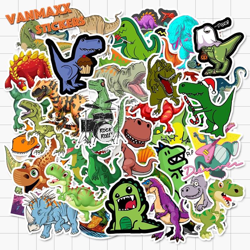 VANMAXX 50 шт. детские наклейки с рисунком динозавра из мультфильма граффити водонепроницаемые виниловые наклейки для шлем для ноутбука велосипедный багаж наклейки для автомобиля|Наклейки|   | АлиЭкспресс