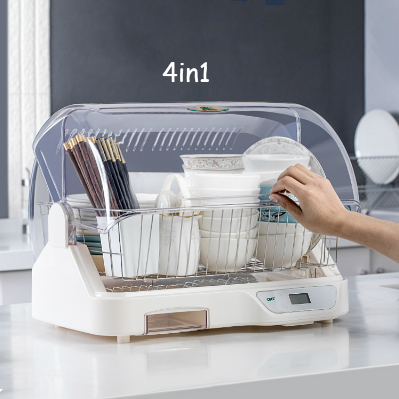 Household Small Disinfection Cabinet Electronic Dish Dryer UV Sterilizer Kitchen Dishes Chopsticks Cups Dryer Cupboard Storage