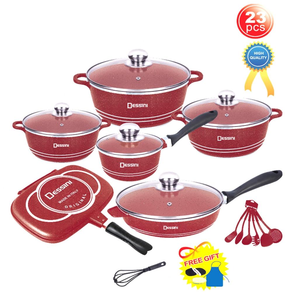 ensemble d ustensiles de cuisine en aluminium moule 23 pieces casseroles antiadhesives accessoires de cuisine