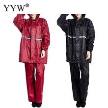 PVC Women Raincoat Rainwear Men Rain Coat Waterproof Capa de Chuva Hiking Tour Hooded Adult Poncho Rainsuit