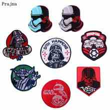 Prajna DIY Star Wars Patch Embroidered Patches For Clothing Iron On Clothes Stripes Badges T-shirt Accessories