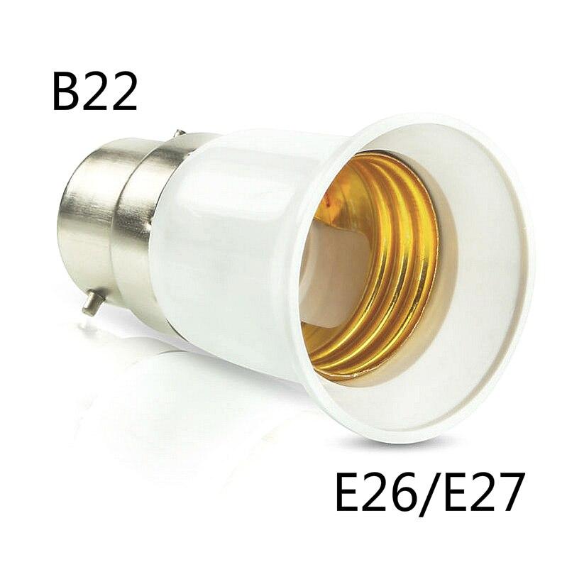 B22 To E26 E27 Adapter Bayonet Bulb Base To Edison E27 LED Light Lamp Bulb Socket Change PBT Fireproof Holder Adapter Converter