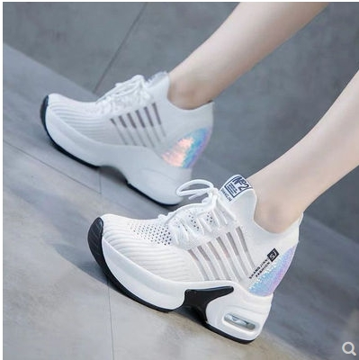 Dad Shoes 2019 Trendy Shoes High Top Sneakers Women Platform Basket Femme Height White Sports Shoes Wedges Ladies Sports Shoes