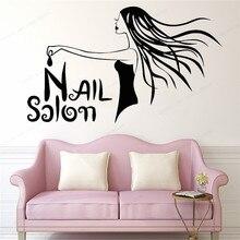 Nail Salon Wall Decal Beauty Decor Manicure Pedicure Window Sticker Bar decoration JH168