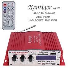 Car Amplifier 12V Hi-Fi Car Stereo Amplifier Digital Player Support USB SD FM MMC DVD MP3 Input for