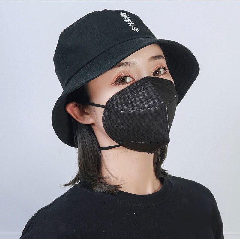 Livraison 10 jours! 5 couches KN95 noir masque sécurité poussière respirateur adulte FFP2 blanc masque protecteur visage bouche Mascarillas FFP3 3