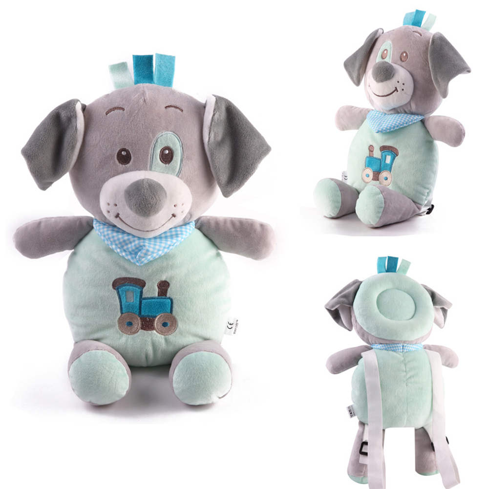 Infant Gift Anti-Break Pillow Baby Sit Walk Learning Soft Head Protection Pad Nursery Cartoon Cute Buffering Adjustable Strap