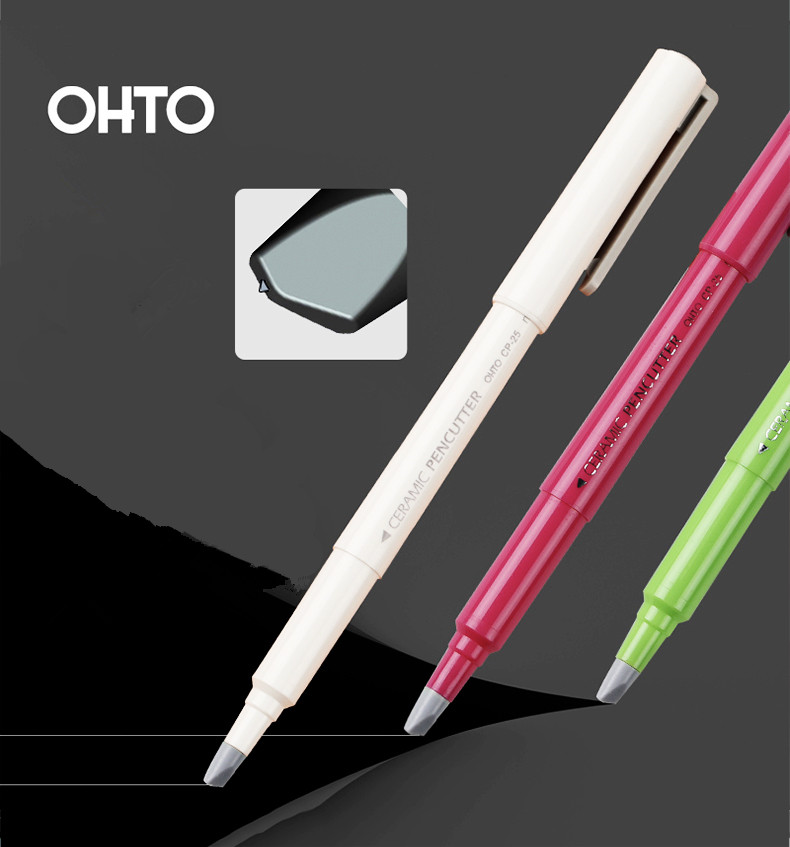 Japan Stationery OHTO Pen Type Ceramic Knife Creative Artist Knife Imported KYOCERA Blade Mini Small Children's DIY Hand-knife