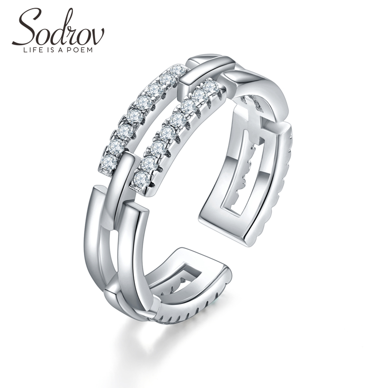 Sodrov Jewelry Rings Finger Silver 925 Sterling Trendy For Women Wedding Bands Free Drop Shipping
