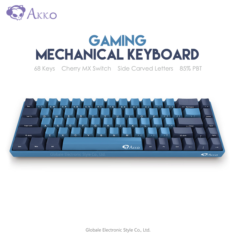 Original AKKO 3068 SP Ocean Star Gaming Mechanical Keyboard 85% PBT 68 Key Cherry MX Switch Type C Computer Gamer Programmable