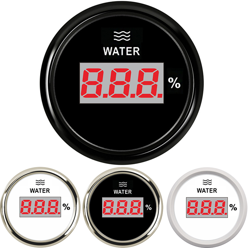 52mm Wasser Level Gauge 2 zoll Marine Digitale Auto Boot Wasser Tank Ebene prozentsatz Anzeige mit 0 ~ 190 ohm 240 ~ 33 ohm racing set