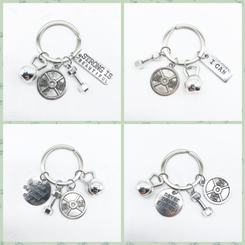 2020 hantel barbell Harajuku key ring sport fitness persönlichkeit keychain anhänger beste freund geschenk