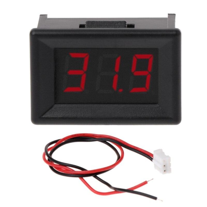 Мини-вольтметр, 2,4-30 В постоянного тока, 2 провода, 0,36 дюйма, цифровой измеритель напряжения для автомобиля