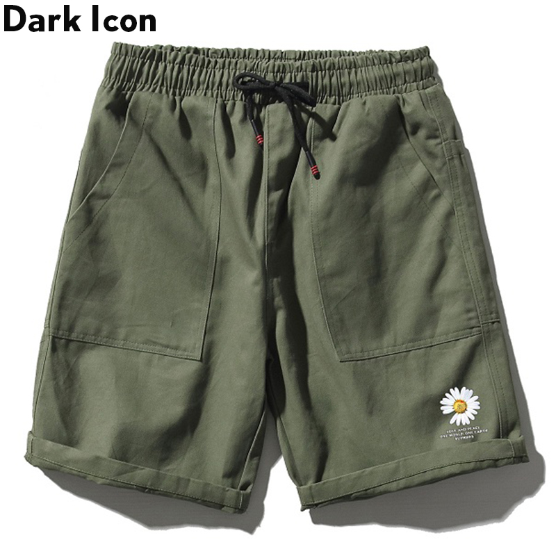Dark Icon Printed Casual Shorts For Men EWlastic Waist Men's Shorts Summer Shorts