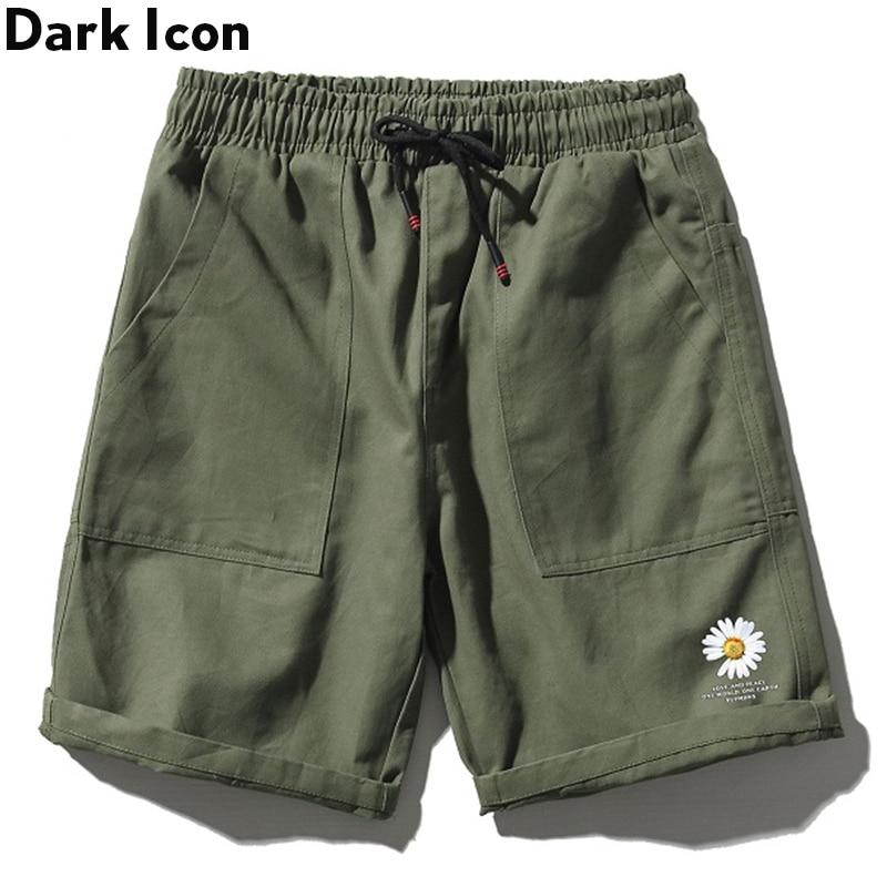 Dark Icon Printed Casual Shorts For Men EWlastic Waist Men's Shorts Summer Shorts