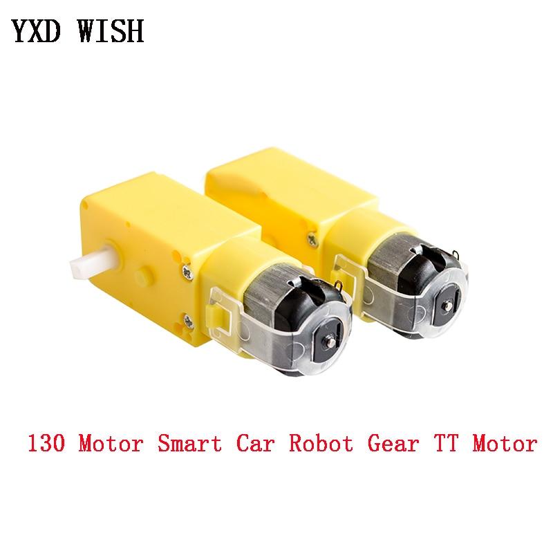 2 pces tt motor 130motor inteligente da engrenagem do robô do carro dc 3 v-6 v motor da engrenagem inteligente do chassi do carro da movimentação do carro tt motor para arduino