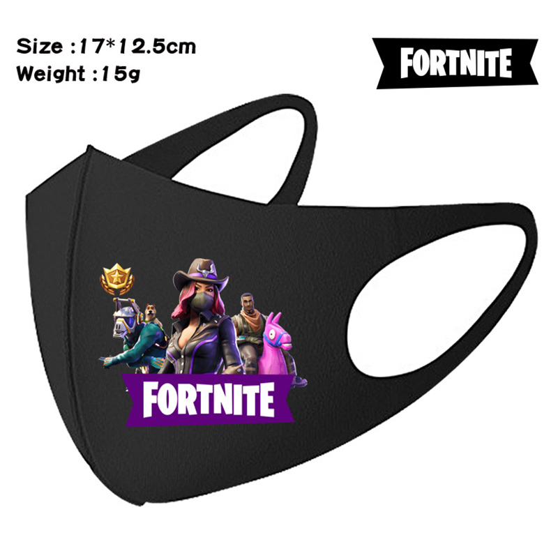 Fortnite Student Face Mask Anti Dust Windproof Mask Reusable Breathable Protective Masks Mouth Caps Washable Kid Toys Gift