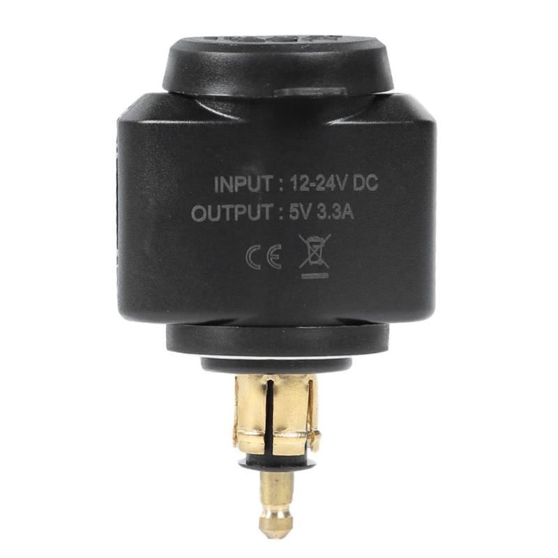 Motorcycle 3.1A Dual USB Charger Adapter for <font><b>BMW</b></font> <font><b>Hella</b></font>/<font><b>DIN</b></font> Powerlet Plug Moto Accessories USB Fast Charger for <font><b>BMW</b></font> <font><b>Hella</b></font> EU Plug image