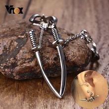 Винтажные серьги гвоздики в виде меча для мужчин и женщин