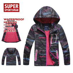 Outono crianças chuva jaquetas à prova dsoft água casca macia crianças caminhadas blusão softshell casaco com capuz ao ar livre acampamento roupas de pesca