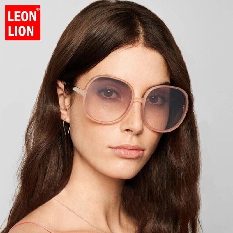 LeonLion Round Sunglasses Women Vintage Sunglasses Women Luxury Brand Sun Glasses For Women/Men Mirror Oculos De Sol Feminino
