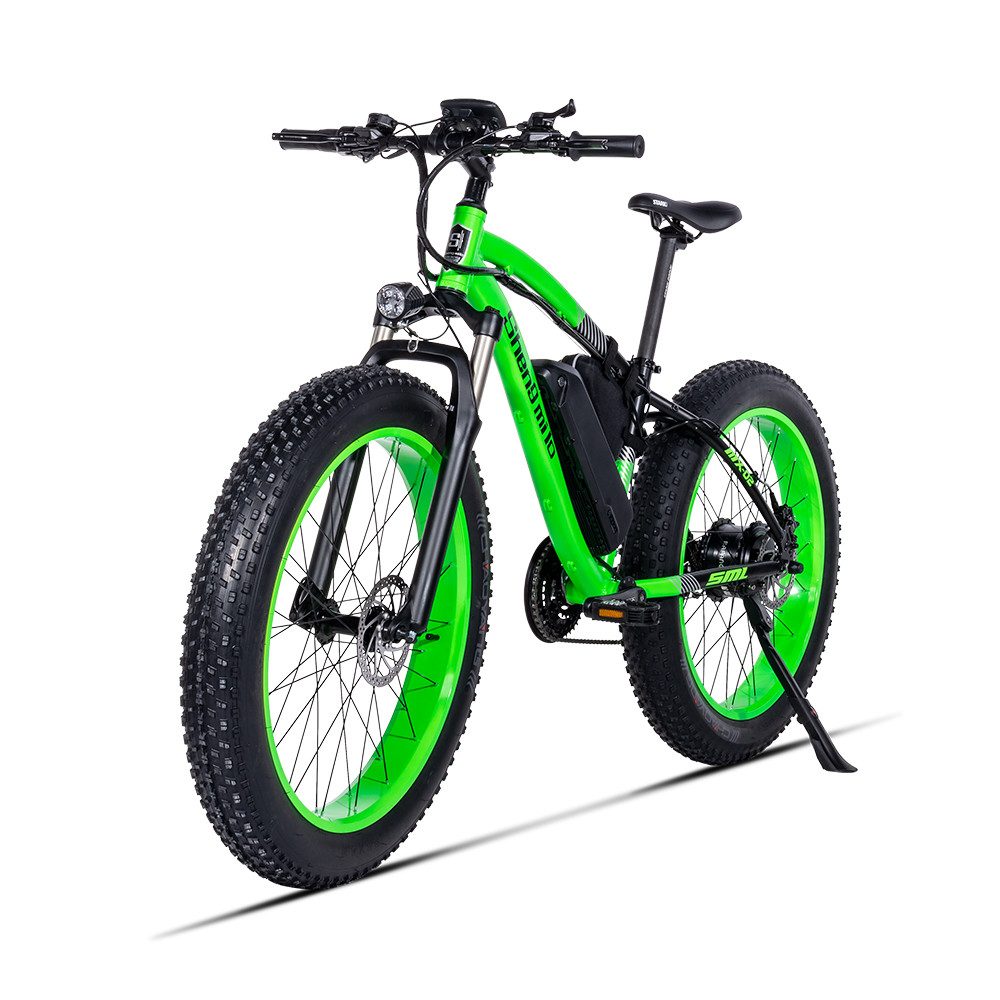 Powerful Electric Bicycle Two Wheels Electric Bicycle 48v 500w Big Tire Off Road Green Yellow Electric Scooter Adults